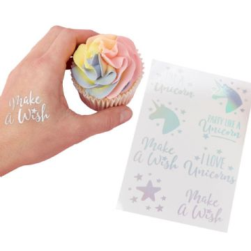 Make a Wish Unicorn Temporary Tattoos